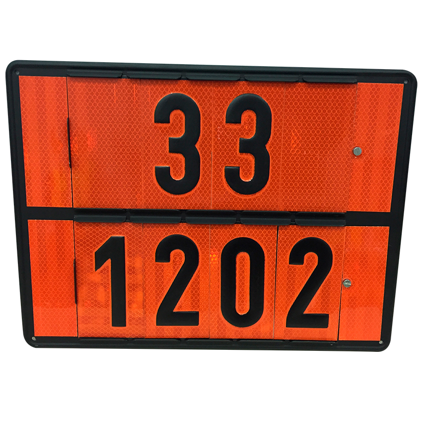 panel rectangular naranja mmpp